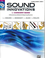 SOUND INNOVATIONS for CONCERT BAND Bb BASS CLARINET BOOK 1 w CD amp; DVD