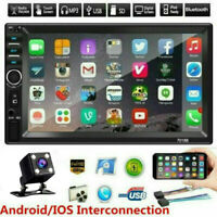 7quot; Double 2 DIN Car MP5 Player Bluetooth Touch Screen Stereo Radio w Camera $58.98