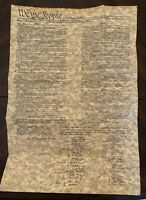 Constitution of The United States parchment replica