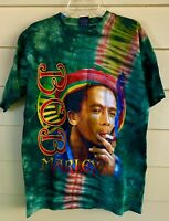 Men's Bob Marley Tie Dye T Shirt by Hot Ice Full Color Image Front Bamp;W Back Lg $22.00