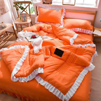 Summer Quilt with Filler Cotton Lace Bed Covers Bedding Set Bedding Plaid Quilts