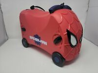 Amazing Spider Man VRUM Ride On Pull Along Kids Luggage Toy Storage Case Red