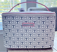Tommy Hilfiger Large White Grey Pink Travel Cosmetic Bag LOGO Zip around BNWT