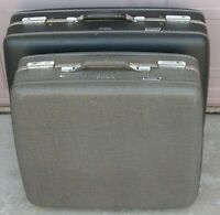 1970#x27;s Pair American Tourister 25quot; x 19quot; 21quot; x 19quot; Gray Hardshell Luggage Set