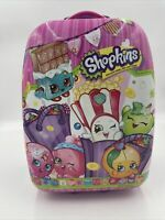 Shopkins 15x11x8 Luggage Suitcase On Wheels Carry On 2013 Plastic Shell