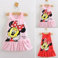 Kids Girl Child Minnie Mouse Party Mini Dress Sleeveless Casual Dresses Clothes
