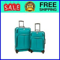 2 pc Spinner Luggage Set Teal