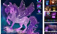 Unicorn Night Lights Gifts for Girls 2 10 Year Room Décor Touch amp; Remote Purple $25.60