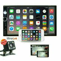 7quot; Double 2 DIN Car Radio Stereo Bluetooth FM USB SD AUX IOS Android MP5 Player $55.99
