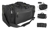 20quot; Sports Duffle Bag w Mesh and Valuables Pockets Travel Gym Black