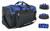 20quot; Sports Duffle Bag w Mesh and Valuables Pockets Travel Gym Royal Blue