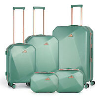 Travel Hardside Luggage Lightweight Suitcase With Spinner Wheels5 Pieces Set