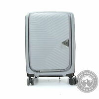 New with Defect SWISSGEAR 04 2468 Geneva Hardside Carry On Gray Suitcase 20quot;