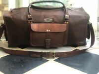 25 Inch Wide Bag Leather Duffle Travel Men Gym Luggage Genuine Overnight Vintage