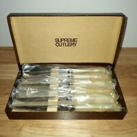 VINTAGE Set of 6 Steak Knives Supreme Cutlery Sheffield England Stainless New