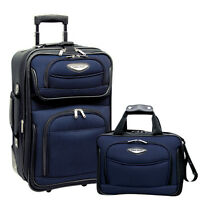 Travel Select Navy Amsterdam 2p Carry on Expandable Rolling Luggage Suitcase Set