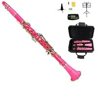 New Bb Pink Clarinet with Zippered Hard Case+2 STANDS+11 REEDS+TUNER