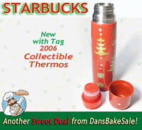 Starbucks Coffee 2006 Collectible Christmas Thermos - New with Tag - 17 fl oz