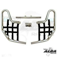 TRX 250EX 250X Honda   Nerf Bars  Alba Racing   Silver bar Black nets  220 T1 SB