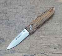 Ganzo G746-1-WD1 Folding Knife 440C Blade Wood Handle Scales