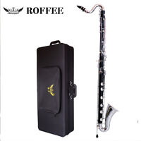 ROFFEE 911 Professional Level Bakelite Body Nickel Plated LOW C Bass Clarinet