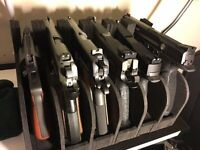 Gun Storage Rack 6 Pistol Rest Revolver Safe Rod Holder Stand Handgun Organizer