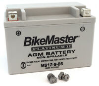 BikeMaster AGM Platinum II Battery - MS12-9-BS - Honda Cannondale Arctic Cat