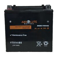 YTX14-BS Battery Honda ATV FourTrax  Rancher Foreman Rubicon Rincon 4x4 NEW