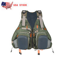 Fly Vest Pack Muiti-pockets Fly Fishing Vest Backpack Bag Adjustable Size Mesh