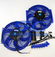 2qty Electric Fan 10in Diameter UTV Cooling Radiator Polaris RZR RZR4 ATV ACE