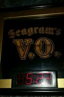 SEAGRAMS VO CHANGING SCENE BAR SIGN WITH CLOCK