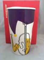 Starbucks NEW ORLEANS Ceramic Tumbler Travel Cup 12 Oz 2015. NWT