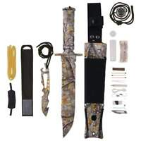 Camo SURVIVAL Combat Tactical HUNTING KNIFE Military Bowie 7-3/4