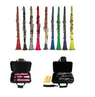 NEW Merano BB Clarinet,Case in Black Red Pink Blue Green Purple Yellow White