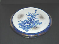 Victorian English Flow Blue Jardiniere Pedestal Base - Hot Plate - Stoneware