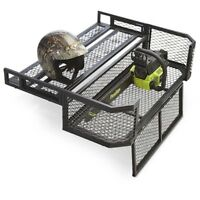 ATV Rear Drop Basket Trail Cargo Rack Farm Universal Fit Hauler Steel Storage