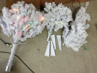Holiday Time Pre-Lit 6.5' Madison Pine White Artificial Christmas Tree multi