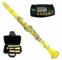 New Bb Yellow Clarinet with Case and Free Metro Tuner Ship from USA