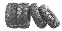 Set of 4 WANDA ATV Tires 25x8-12 Front 25x10-12 Rear 6PR  Super Lug Mud