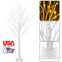 Christmas Tree Artificial Snowflake 5FT 72 LED Lamp Xmas Decoration Outdoor US