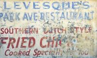 Vintage Hand Painted On Metal Store Sign / Good Related Sign / Restaurant Sign