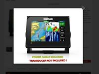 Simrad GO7 XSE Chartplotter/Fishfinder NO TRANSDUCER or POWER CORDS