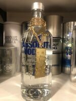 Absolut Vodka Gold Neck Chain —RICH Without absolut Bottle .