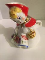 Vintage Hull Little Red Riding Hood Creamer Pitcher.  Box 53