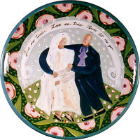 DROLL DESIGNS BRIDE & GROOM LARGE PLATTER - RETAIL $333.25 NOW ONLY $69.99!!!
