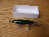C Hines Heddon Style 150 5 Hook Minnow in Green Bass Crackleback Color