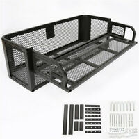 ATV UTV Universal Steel Rear Cargo Drop Basket Rack Hunting Carrier Farmer