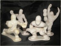 Four Shearwater Pottery Football Figurines - Penn State Football Interest