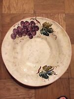 MADE IN ITALY LARGE POTTERY BOWL HAND MADE amp; PAINTED