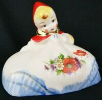 vintage Hull Pottery Little Red Riding Hood coffee canister lid